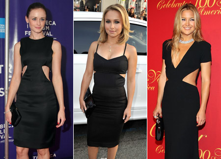 Sequins And Lace Little Black Cut Out Dress